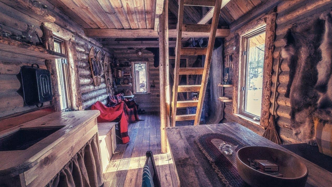 log cabin wilderness homestead maple syrup wild edibles primitive