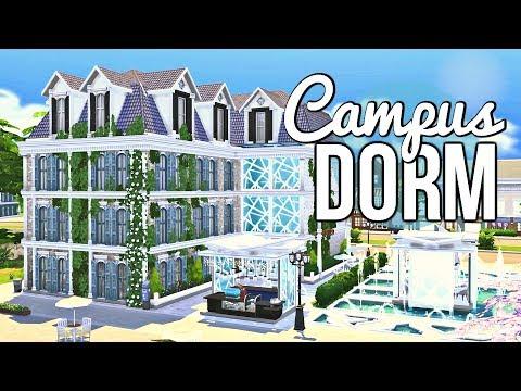 The Sims 4 | CAMPUS DORM w/ Demi Bo Bemi | Speed Build