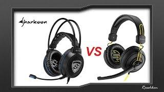 Sharkoon SharkZone H10 VS Sharkoon SGH1 Skiller  - porównanie słuchawek