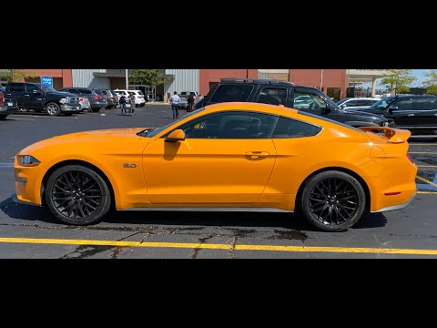 Mustang GT 2019 orange fury sound in track mode