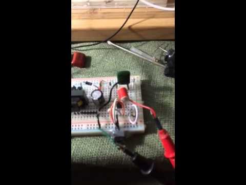 Neon relaxation oscillator for xenon flash tube