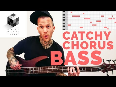 How to Write Bass Lines - Bass Guitar & MIDI Synth (Chorus Bassline Melody)