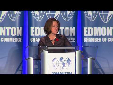 Premier Redford addresses the Edmonton Chamber of Commerce