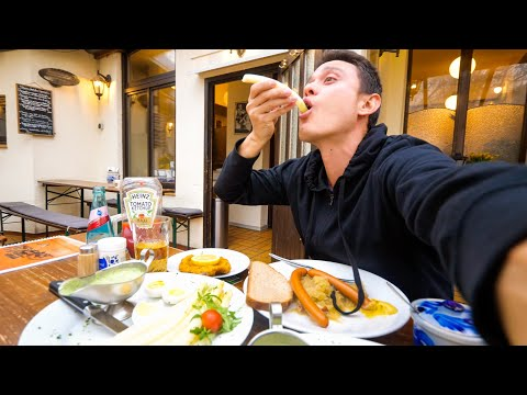 Layover in Frankfurt - GERMAN FOOD, Doner Kebab, and Sightseeing in Frankfurt, Germany!