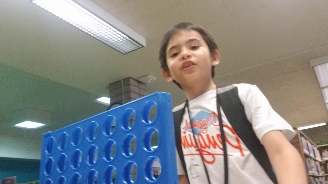 Playing connect four challenge whoever wins gets to boss the other one around for a week!