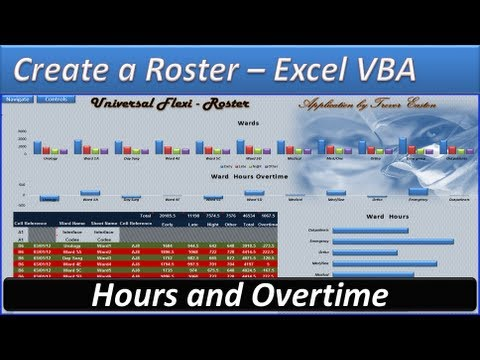 how to write a roster on excel