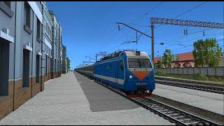 Trainz 12 | Мичуринск-Уральский - Грязи-Воронежские на ЭП1М-645