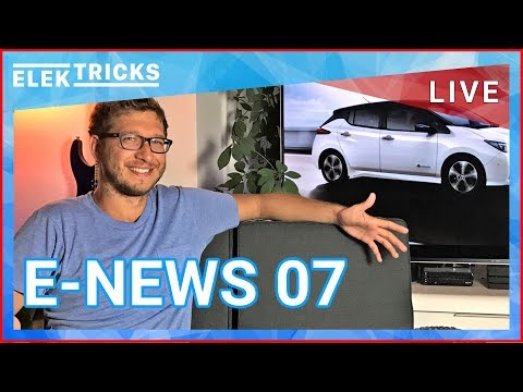 E-News #07 Nissan Leaf 2, Diesel Gipfel 2, Smart Vision EQ, E-Schwalbe, E-Bikes, Jaguar E-Type Zero