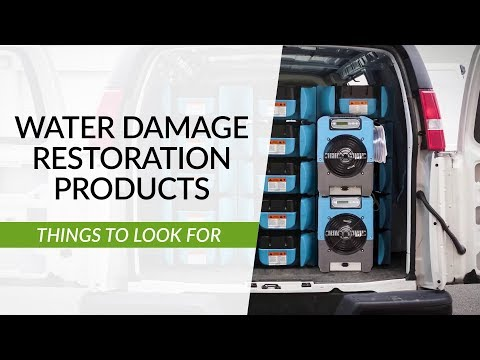 Best Products For Water Damage Restoration Businesses