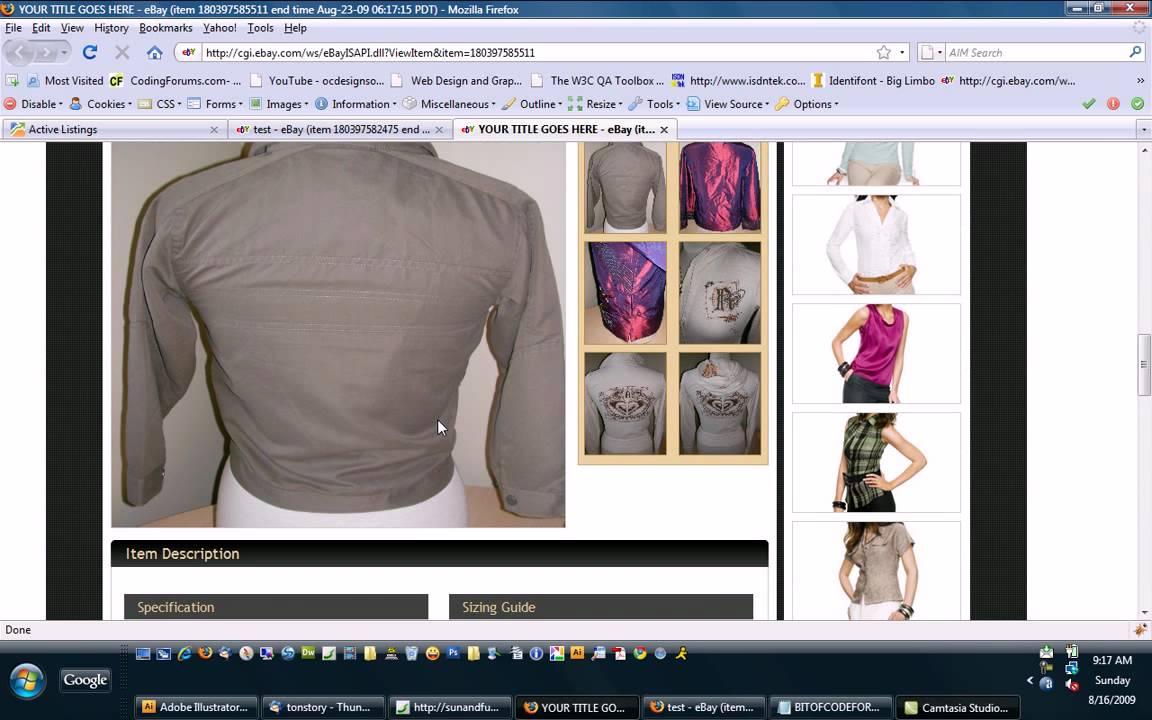 Auctivia template listing video tutorial http wwwocdesignsonlinecom youtube for Ocdesignsonline