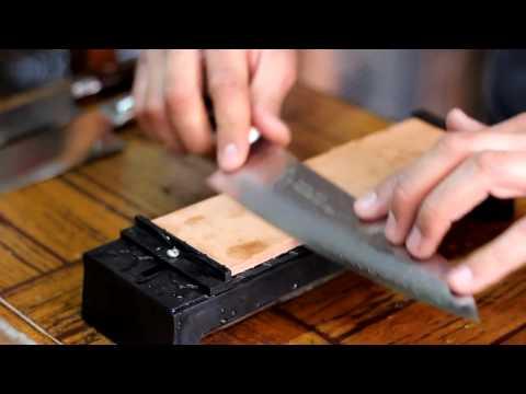 sharpening a sakai takayuki 210mm gyuto