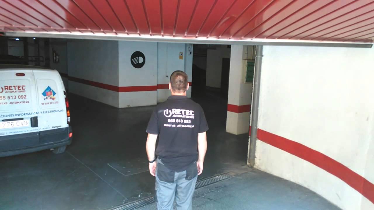 Banda de seguridad en puerta de garaje basculante youtube - Automatismos para puertas de garaje ...