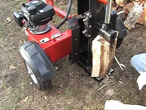 Troy Bilt 27 Ton Hydraulic Log Splitter at work 11/27/11