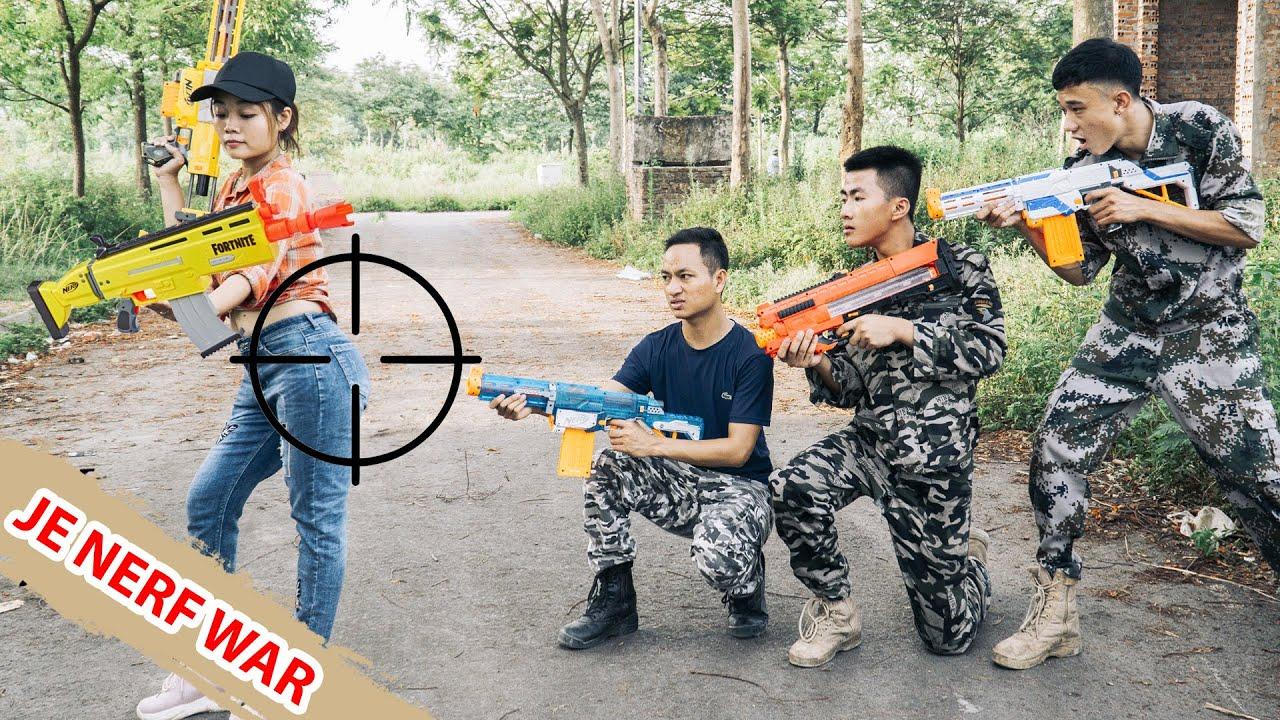 JE Nerf War: SWAT WARRIORS SEAL GIRL NERF GUNS Fight Squad Criminal Fight Criminal Prison Escape