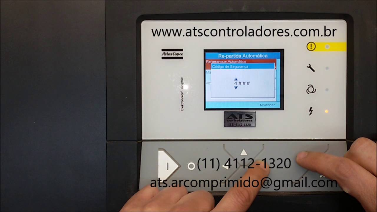 elektronikon r graphic mk v configura es de re arranque rh youtube com atlas copco elektronikon graphic controller manual Atlas Copco GA 3.0 Manual