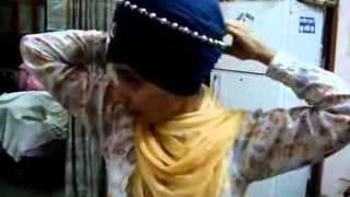 Repeat youtube video Learn Best Dumala Dastar   Pagg Training   Tying Dumala Turban By Prabhjot Kaur kahalsa   YouTube