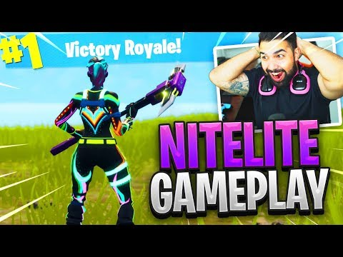 "NEW Fortnite ""NITELITE"" Skin Gameplay.."