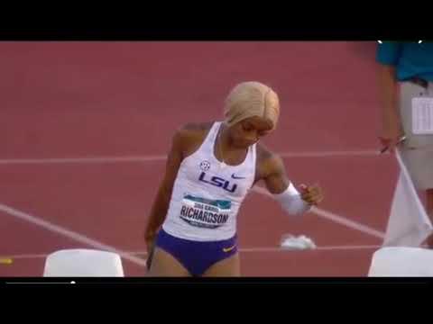 *Sha'Carri Ferrari* Fastest Woman In NCAA Shows God Level Speed ( Wins 100m & 200m)🔥🔥🔥
