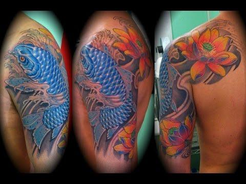 Tatuajes De Pez Koi Youtube