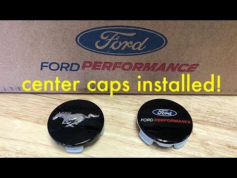 2017 Ford Mustang GT [Ep. 25] FORD PERFORMANCE CENTER CAPS INSTALLED!