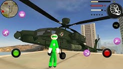 Stickman Rope Hero Green Hero Gangstar Crime - Gameplay Trailer (Android Gameplay)