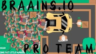 braains io gameplay how to play braains io like a pro
