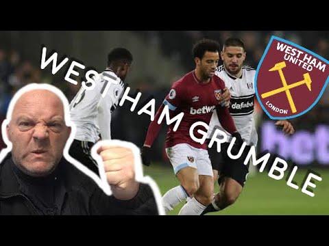 West Ham United   West Ham Grumble   West Ham V Fulham - Poor-Crosses   Irons United