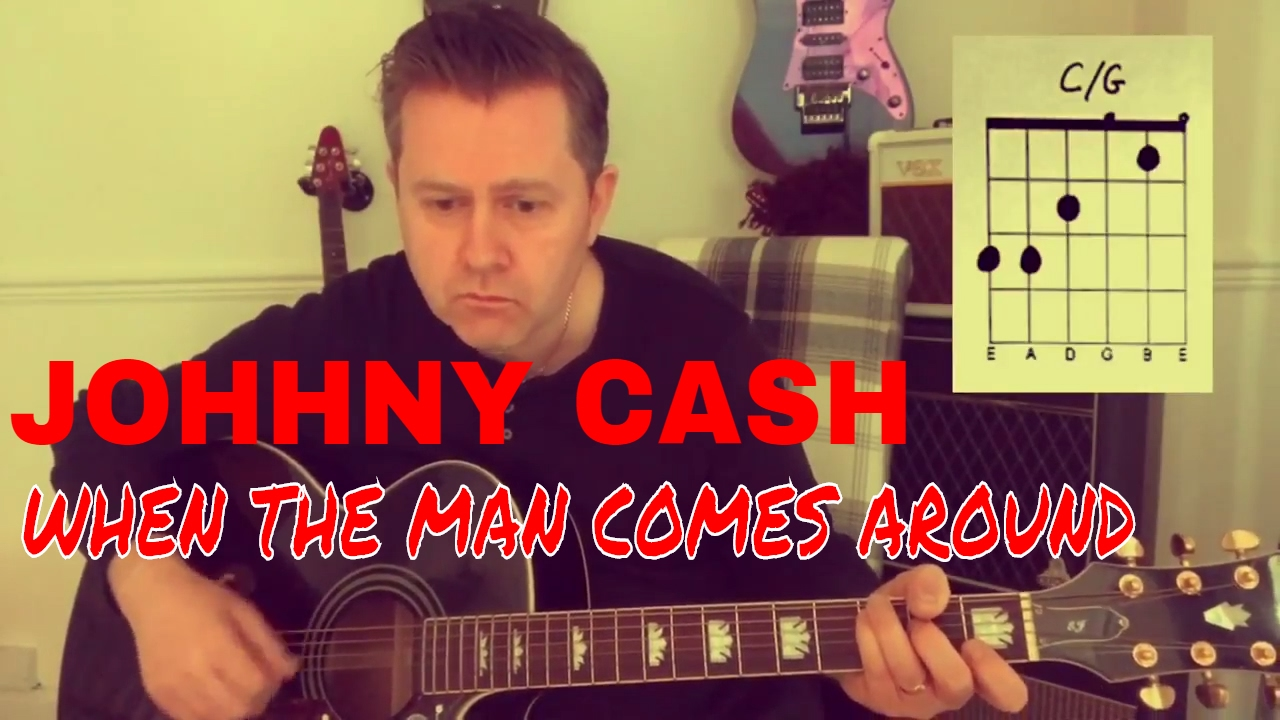 Johnny Cash When The Man Comes Around Guitar Play Along Chord Boxes