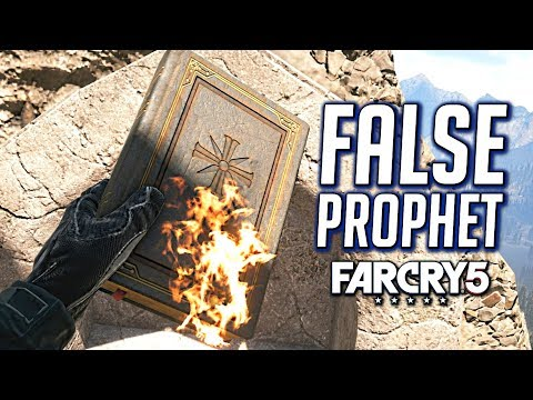 Far Cry 5: Destroy Joseph Seed's Statue and Burn His Book