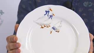 Посуда из белого фарфора Мэри-Энн (Mary-Anne) Гуси 0807 (Leander, Чехия)(, 2017-01-04T17:21:51.000Z)