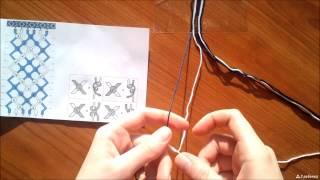 видео как плести косым плетением
