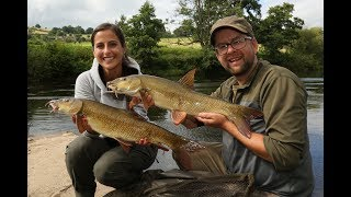 Barbenangeln in England am Fluss Wye / Barbel fishing at the river wye / Große Barbe