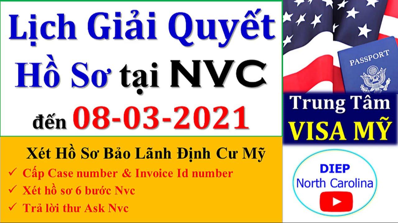 Lịch Giải Quyết Hồ Sơ Định Cư MỸ tại NVC || Cập nhật 08 -03 -2021 [NVC Timeframes MAR 08]
