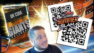 QR CODES OUTTA NOWHERE!! GIANTS UNLEASHED QUEST REWARDS! | WWE SuperCard