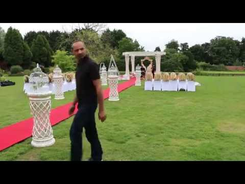 Outdoor Mandap Set-up & Wedding decoration by Destiny Premier at Parklands Quendon Hall