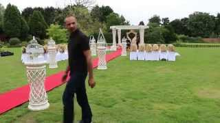 Outdoor Mandap Set-up & Wedding decoration by Destiny Premier at Parklands Quendon Hall