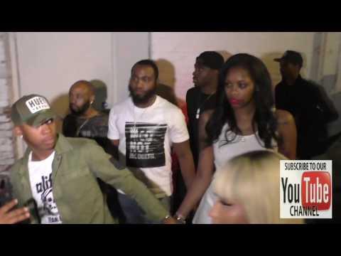 Nicki Minaj and Meek Mill arriving at Playhouse Nightclub in Hollywood