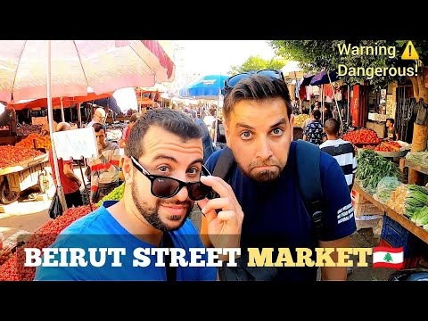 BEIRUT Street Market In The Most Dangerous Area of Beirut 2021