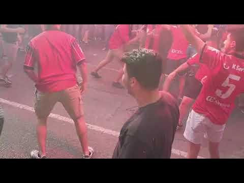 La afición del Mallorca ya calienta el partido