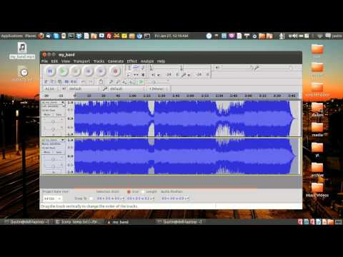 how to remove vocals from a song  (using audacity - free software)