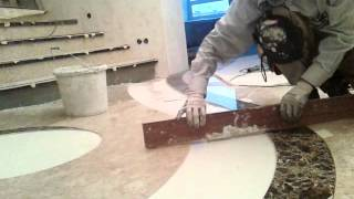 Укладка плитки и мозаики после гидро-- порезки 3 ч(Android., 2013-12-09T21:30:43.000Z)