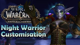 "Night Elf ""Night Warrior"" Customisation Preview   Battle for Azeroth"