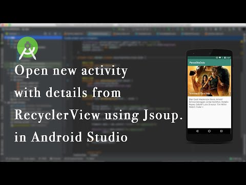Parse Data From Sites To RecyclerView Using Jsoup | Android Studio - Part 2