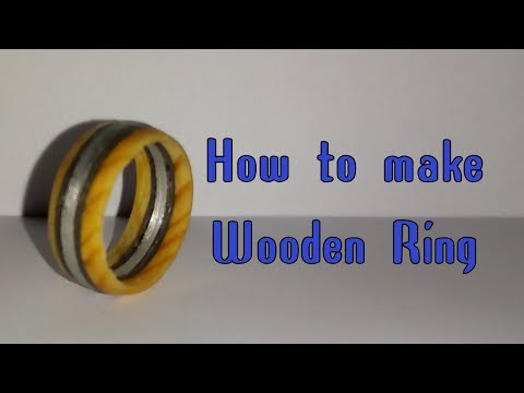 How to make a DIY wooden ring