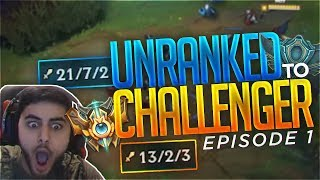 Yassuo   UNRANKED TO CHALLENGER IN ONE WEEK   Episode 1
