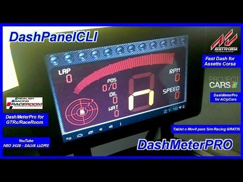 Tablet O Movil Para Sim Racing GRATIS - DashPanel - DashMeterPRO