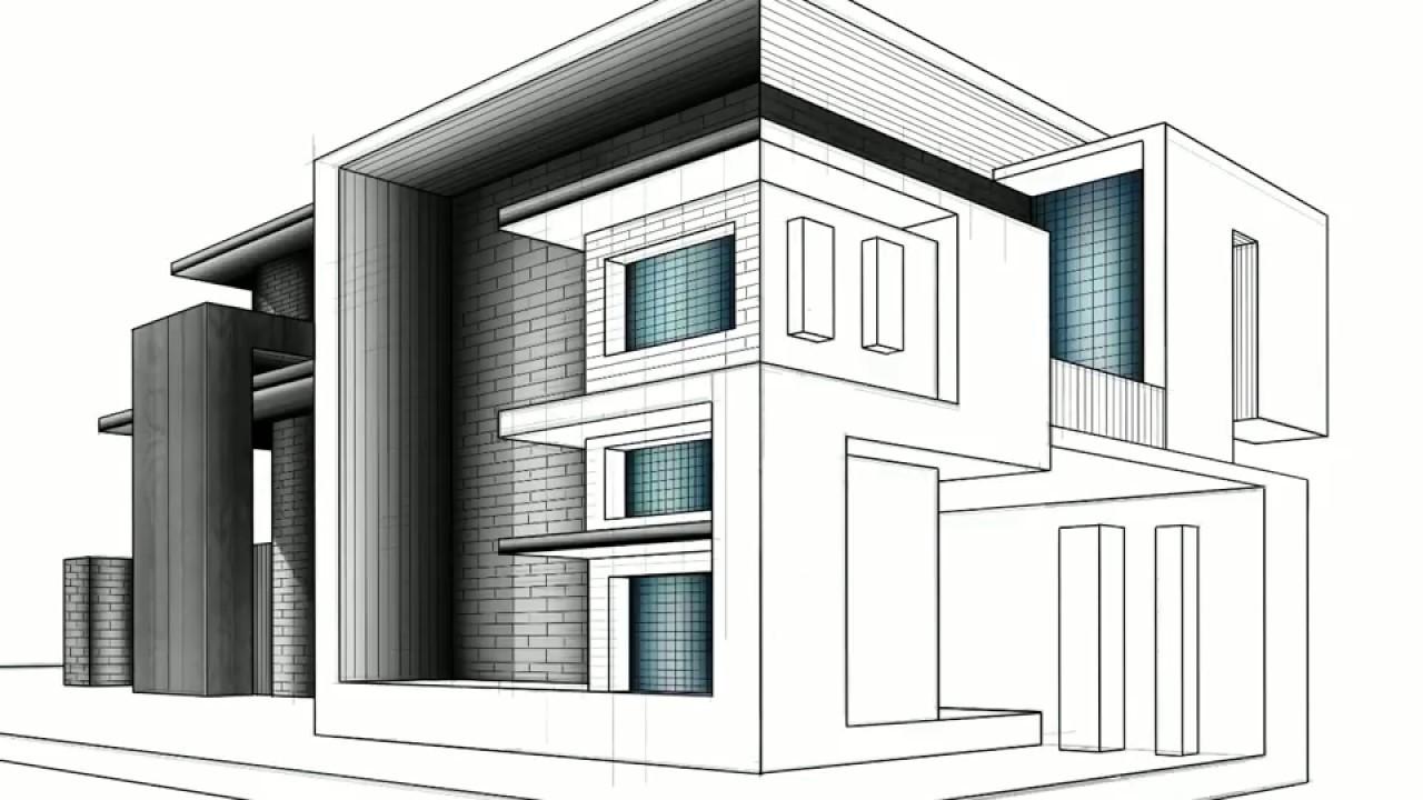Contemporary Architecture Sketches