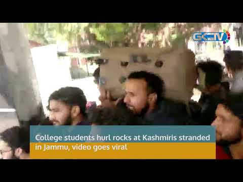 College students hurl rocks at Kashmiris stranded in Jammu, video goes viral