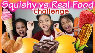 SQUISHY FOOD vs REAL FOOD CHALLENGE Part #1 | TheRempongsHD