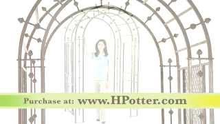 Garden Arbors - Iron Arbors By H Potter